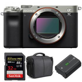 Sony Alpha a7C Cuerpo Silver + SanDisk 32GB Extreme PRO UHS-II SDXC 300 MB/s + Sony NP-FZ100 + Bolsa