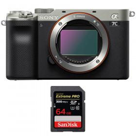Sony Alpha a7C Body Silver + SanDisk 64GB Extreme PRO UHS-II SDXC 300 MB/s | 2 Years Warranty