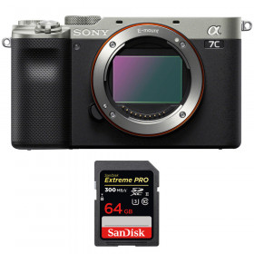 Sony Alpha a7C Cuerpo Silver + SanDisk 64GB Extreme PRO UHS-II SDXC 300 MB/s