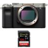 Sony Alpha a7C Body Silver + SanDisk 128GB Extreme PRO UHS-II SDXC 300 MB/s | 2 Years Warranty