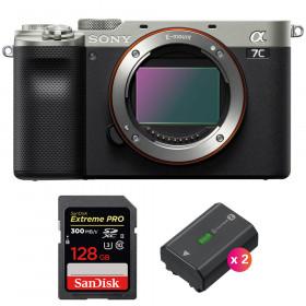 Sony Alpha a7C Body Silver + SanDisk 128GB Extreme PRO UHS-II SDXC 300 MB/s + 2 Sony NP-FZ100 | 2 Years Warranty