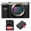 Sony Alpha a7C Body Silver + SanDisk 128GB Extreme PRO UHS-II SDXC 300 MB/s + 2 Sony NP-FZ100   2 Years Warranty