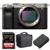 Sony Alpha a7C Body Silver + SanDisk 128GB Extreme PRO UHS-II SDXC 300 MB/s + Sony NP-FZ100 + Bag | 2 Years Warranty