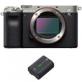 Sony Alpha a7C Cuerpo Silver + 1 Sony NP-FZ100