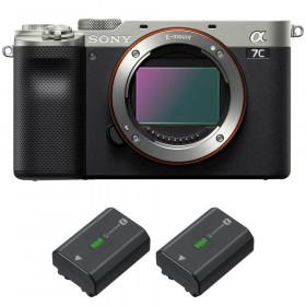 Sony Alpha a7C Cuerpo Silver + 2 Sony NP-FZ100