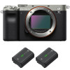Sony Alpha a7C Body Silver + 2 Sony NP-FZ100 | 2 Years Warranty