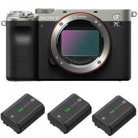 Sony Alpha a7C Cuerpo Silver + 3 Sony NP-FZ100