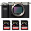Sony Alpha a7C Cuerpo Silver + 3 SanDisk 64GB Extreme PRO UHS-II SDXC 300 MB/s | 2 años de garantía