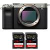 Sony Alpha a7C Body Silver + 2 SanDisk 128GB Extreme PRO UHS-II SDXC 300 MB/s | 2 Years Warranty