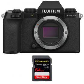 Fujifilm X-S10 ( XS10 ) Nu + SanDisk 64GB Extreme Pro UHS-I SDXC 170 MB/s