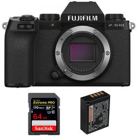 Fujifilm X-S10 ( XS10 ) Nu + SanDisk 64GB Extreme Pro UHS-I SDXC 170 MB/s + Fujifilm NP-W126S