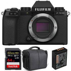 Fujifilm X-S10 ( XS10 ) Nu + SanDisk 64GB Extreme Pro UHS-I SDXC 170 MB/s + Fujifilm NP-W126S + Sac