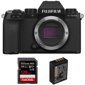 Fujifilm X-S10 ( XS10 ) Nu + SanDisk 128GB Extreme Pro UHS-I SDXC 170 MB/s + Fujifilm NP-W126S