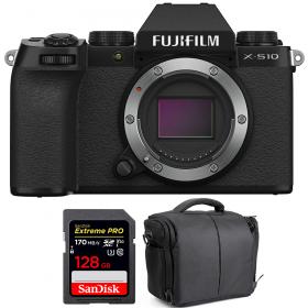 Fujifilm X-S10 ( XS10 ) Nu + SanDisk 128GB Extreme Pro UHS-I SDXC 170 MB/s + Sac