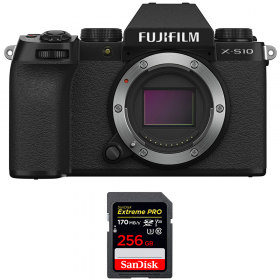 Fujifilm X-S10 ( XS10 ) Nu + SanDisk 256GB Extreme Pro UHS-I SDXC 170 MB/s