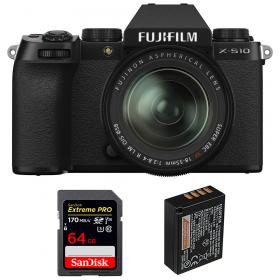 Fujifilm X-S10 ( XS10 ) + XF 18-55mm f/2.8-4 R LM OIS + SanDisk 64GB Extreme Pro UHS-I SDXC 170 MB/s + Fujifilm NP-W126S