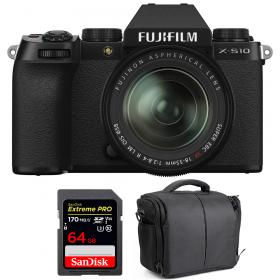 Fujifilm X-S10 ( XS10 ) + XF 18-55mm f/2.8-4 R LM OIS + SanDisk 64GB Extreme Pro UHS-I SDXC 170 MB/s + Bolsa
