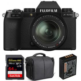 Fujifilm X-S10 ( XS10 ) + XF 18-55mm f/2.8-4 R LM OIS + SanDisk 64GB Extreme Pro UHS-I SDXC 170 MB/s + Fujifilm NP-W126S + Bolsa