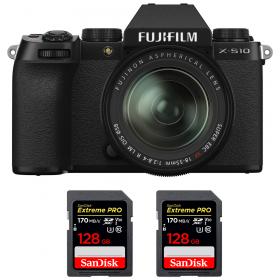 Fujifilm X-S10 ( XS10 ) + XF 18-55mm f/2.8-4 R LM OIS + 2 SanDisk 128GB Extreme Pro UHS-I SDXC 170 MB/s
