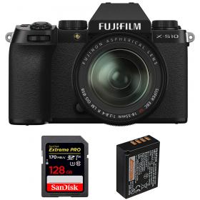 Fujifilm X-S10 ( XS10 ) + XF 18-55mm f/2.8-4 R LM OIS + SanDisk 128GB Extreme Pro UHS-I SDXC 170 MB/s + Fujifilm NP-W126S