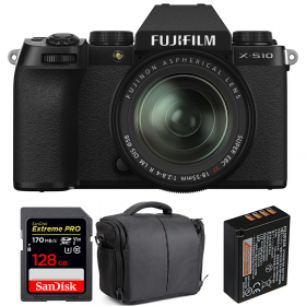 Fujifilm X-S10 + XF 18-55mm f/2.8-4 R LM OIS + SanDisk 128GB Extreme Pro UHS-I SDXC 170 MB/s + Fujifilm NP-W126S + Bolsa