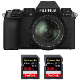 Fujifilm X-S10 ( XS10 ) + XF 18-55mm f/2.8-4 R LM OIS + 2 SanDisk 256GB Extreme Pro UHS-I SDXC 170 MB/s