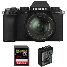 Fujifilm X-S10 ( XS10 ) + XF 18-55mm f/2.8-4 R LM OIS + SanDisk 256GB Extreme Pro UHS-I SDXC 170 MB/s + Fujifilm NP-W126S