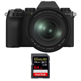Fujifilm X-S10 ( XS10 ) + XF 16-80 F/4 WR + SanDisk 64GB Extreme Pro UHS-I SDXC 170 MB/s