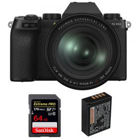 Fujifilm X-S10 ( XS10 ) + XF 16-80 F/4 WR + SanDisk 64GB Extreme Pro UHS-I SDXC 170 MB/s + Fujifilm NP-W126S