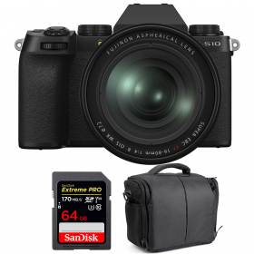 Fujifilm X-S10 ( XS10 ) + XF 16-80 F/4 WR + SanDisk 64GB Extreme Pro UHS-I SDXC 170 MB/s + Bolsa