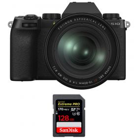 Fujifilm X-S10 ( XS10 ) + XF 16-80 F/4 WR + SanDisk 128GB Extreme Pro UHS-I SDXC 170 MB/s