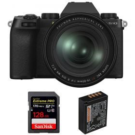 Fujifilm X-S10 ( XS10 ) + XF 16-80 F/4 WR + SanDisk 128GB Extreme Pro UHS-I SDXC 170 MB/s + Fujifilm NP-W126S