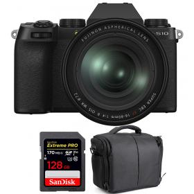 Fujifilm X-S10 ( XS10 ) + XF 16-80 F/4 WR + SanDisk 128GB Extreme Pro UHS-I SDXC 170 MB/s + Bolsa