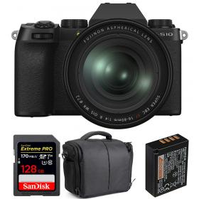 Fujifilm X-S10 + XF 16-80 F/4 WR + SanDisk 128GB Extreme Pro UHS-I SDXC 170 MB/s + Fujifilm NP-W126S + Bolsa