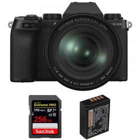 Fujifilm X-S10 ( XS10 ) + XF 16-80 F/4 WR + SanDisk 256GB Extreme Pro UHS-I SDXC 170 MB/s + Fujifilm NP-W126S