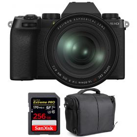 Fujifilm X-S10 ( XS10 ) + XF 16-80 F/4 WR + SanDisk 256GB Extreme Pro UHS-I SDXC 170 MB/s + Bolsa