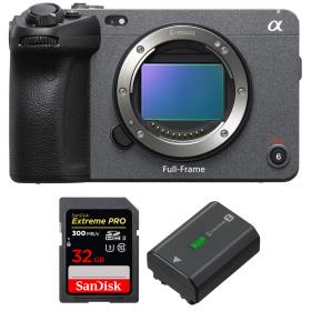 Sony FX3 Camera Cinéma + SanDisk 32GB Extreme PRO UHS-II SDXC 300 MB/s + Sony NP-FZ100