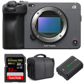 Sony FX3 Cinema camera + SanDisk 32GB Extreme PRO UHS-II SDXC 300 MB/s + Sony NP-FZ100 + Bag