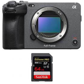 Sony FX3 Camera Cinéma + SanDisk 64GB Extreme PRO UHS-II SDXC 300 MB/s
