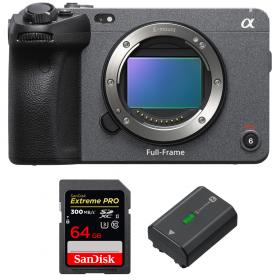 Sony FX3 Camera Cinéma + SanDisk 64GB Extreme PRO UHS-II SDXC 300 MB/s + Sony NP-FZ100