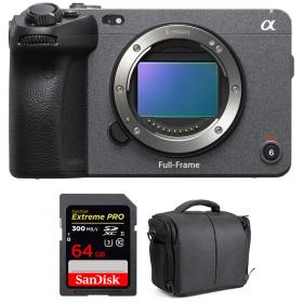 Sony FX3 Cinema camera + SanDisk 64GB Extreme PRO UHS-II SDXC 300 MB/s + Bag
