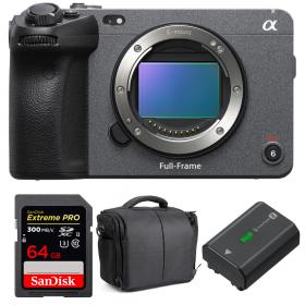 Sony FX3 Camera Cinéma + SanDisk 64GB Extreme PRO UHS-II SDXC 300 MB/s + Sony NP-FZ100 + Sac