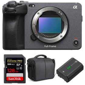 Sony FX3 Cinema camera + SanDisk 128GB Extreme PRO UHS-II SDXC 300 MB/s + Sony NP-FZ100 + Bag