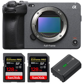 Sony FX3 Cinema camera + 2 SanDisk 128GB Extreme PRO UHS-II SDXC 300 MB/s + 1 Sony NP-FZ100